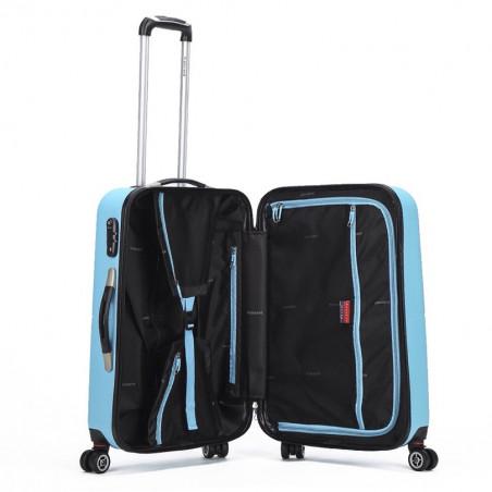 Decent Neon Fix spinner kofferset van 3 aqua blauw