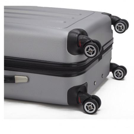 Decent Neon Fix spinner kofferset van 3 zilver