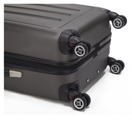 Decent Neon Fix spinner kofferset van 3 antraciet