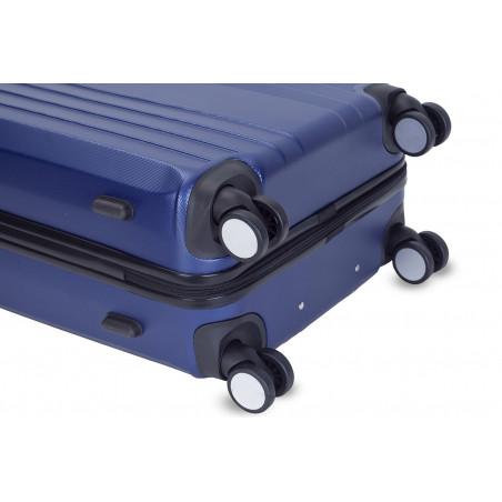 Decent Tobi-Line kofferset van 2 donkerblauw