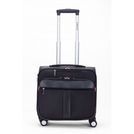Decent B-Corso Business Trolley Zwart/pink