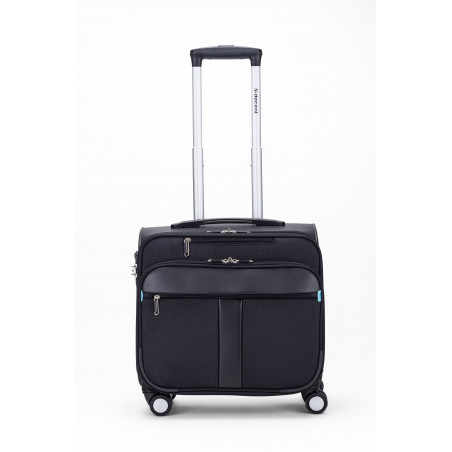 Decent B-Corso Business Trolley Zwart/Kobalt Blauw