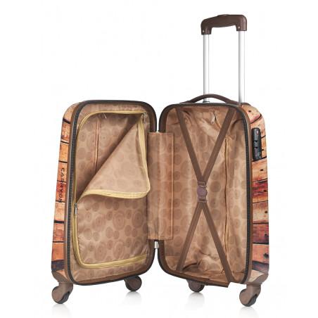 CarryOn Handbagage Trolley 55cm Wood