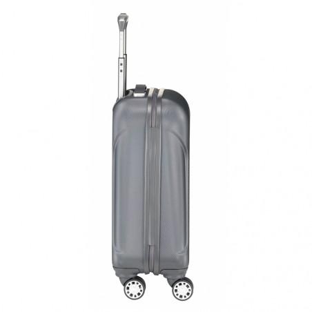 Travelite Elbe Two 4 Wiel Handbagage Trolley 55cm Antraciet