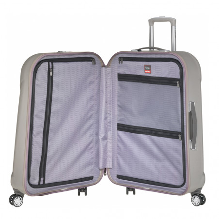 Travelite Elbe Two 4 Wiel Trolley 75cm Beige