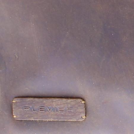 Plevier Laptop sleeve plantaardig gelooid leer 14-15 inch Donkerbruin