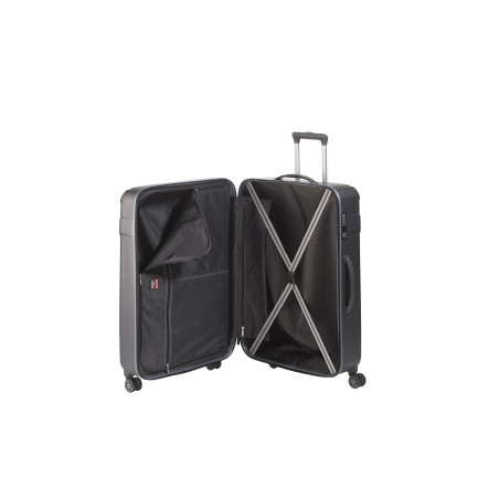 Travelite Vector 4 Wiel Trolley 77cm Antraciet