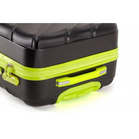 Decent Lumi-Fix Handbagage Koffer 55cm Zwart/lemon