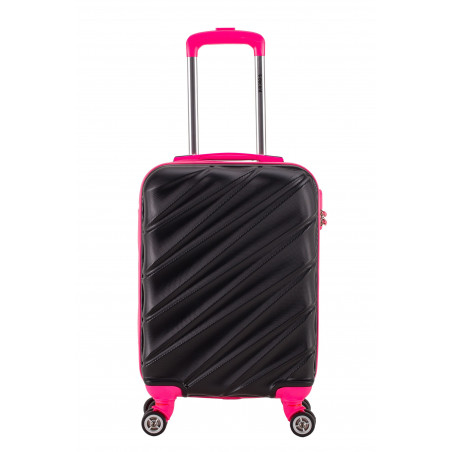Decent Lumi-Fix Handbagage Koffer 55cm Zwart/Roze