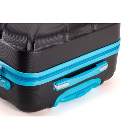 Decent Lumi-Fix Handbagage Koffer 55cm Zwart/blauw