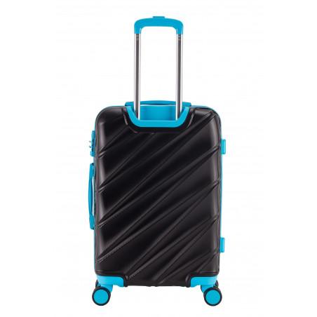 Decent Lumi Fix 3-Delige Kofferset Zwart/Blauw
