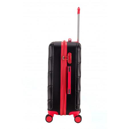 Decent Lumi Fix 3-Delige Kofferset Zwart/Rood