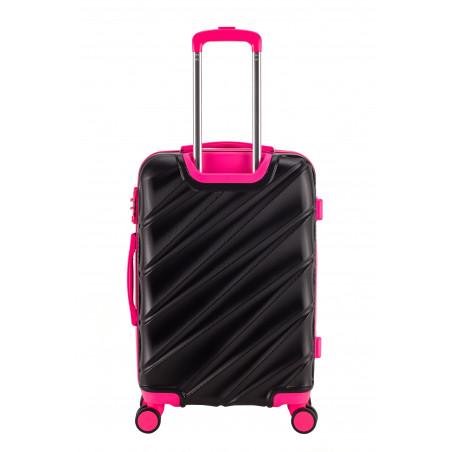 Decent Lumi Fix 3-Delige Kofferset Zwart/Roze