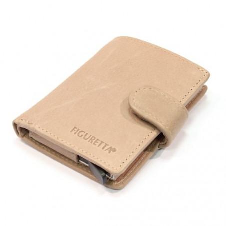 Figuretta Leren Card Protector Wallet Lever