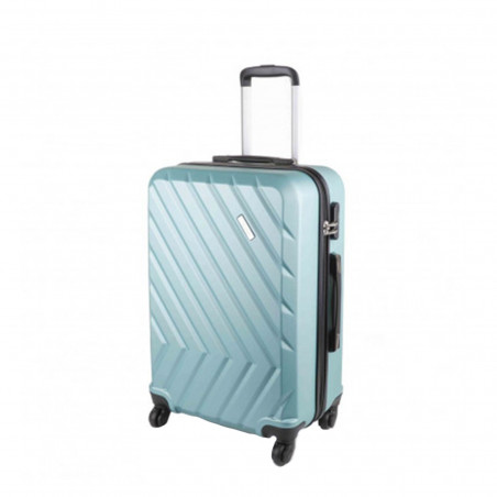 Travelite Quick 4 Wiel Koffer 64cm Mint Groen