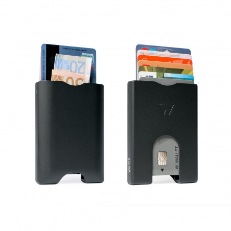 Walter Wallet Aluminium Cardprotector Zwart