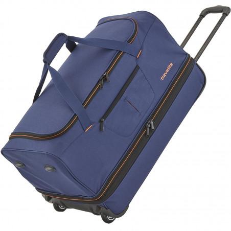 Travelite Basics Reistas met Wielen Duffle 55cm Expendable Navy/Orange