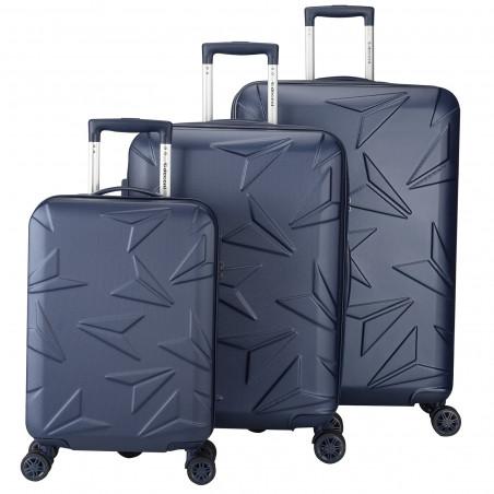 Decent Q-Luxx Kofferset Donkerblauw