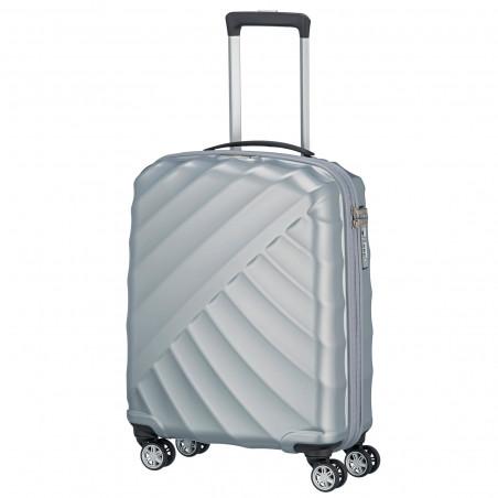 Titan Shooting Star 4 Wiel Handbagage Koffer 55cm Zilver