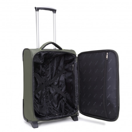 Decent Super Light Handbagage Trolley 50cm Olijfgroen