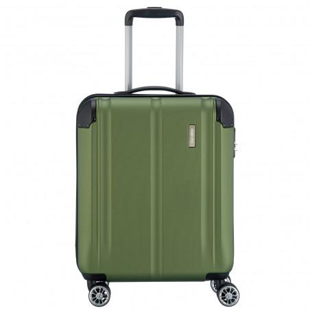 Travelite City 4 Wiel Handbagage Koffer 55cm Groen