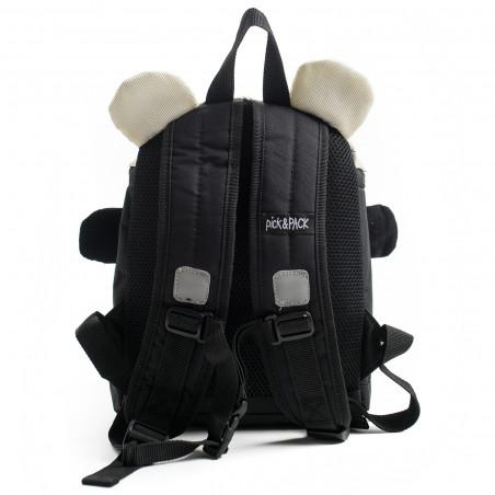 Pick & Pack Panda Shape Rugzak Zwart
