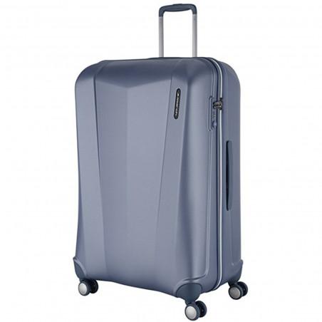 March Vision Handbagage Koffer 55cm Metal Blauw