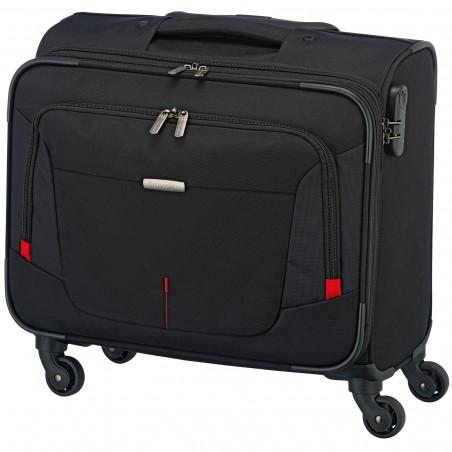 Travelite AtWork 4 Wiel Business Trolley Zwart Melange