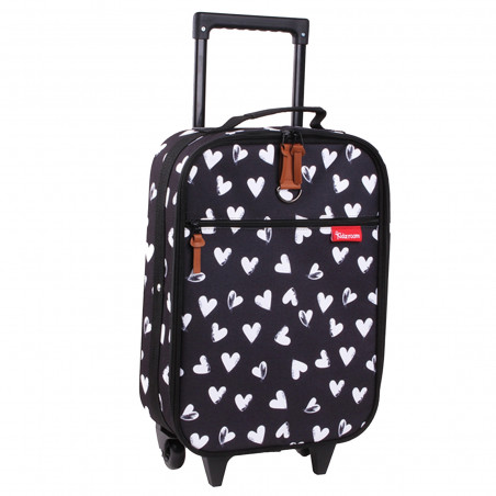 Kidzroom Kinder Trolley Black & White Hearts