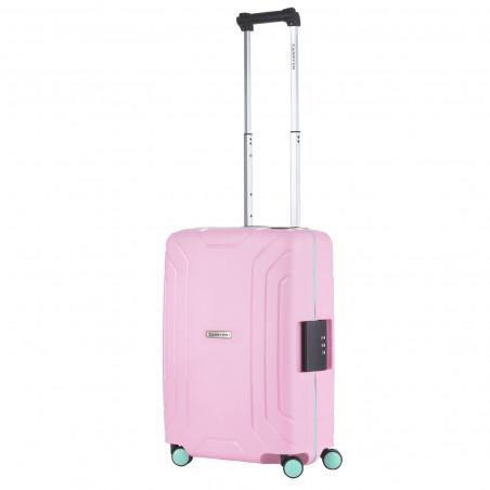 CarryOn Steward Handbagage Spinner 55cm Roze