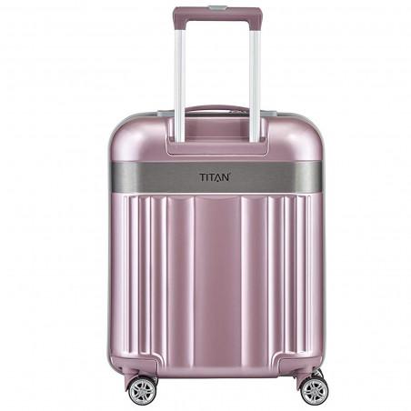 Titan Spotlight Flash Handbagage Koffer 4 wiel 55 cm Wild Roze