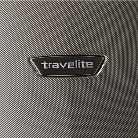 Travelite Elbe 4 Wiel Handbagage Koffer 55cm Antraciet