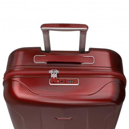 Travelite Elbe 4 Wiel Handbagage Koffer 55cm Rood