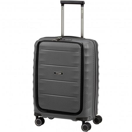 Titan Highlight Handbagage Koffer Met Voorvak 55cm Antraciet