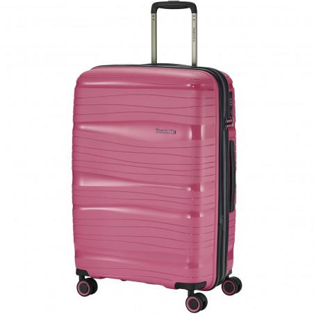 Travelite Motion 4 Wiel Koffer 77cm Roze