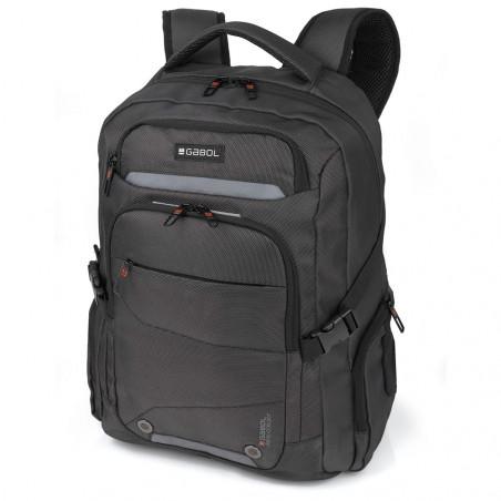 Gabol Black 15,6 inch Laptop Rugzak Antraciet