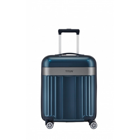 Titan Spotlight Flash Handbagage Koffer 4 wiel 55 cm North Sea Blauw
