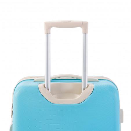 Decent Star Maxx Handbagage Koffer 55cm Pastel Blauw