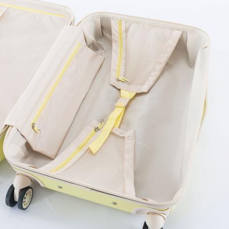 Decent Star Maxx Handbagage Koffer 55cm Pastel Geel