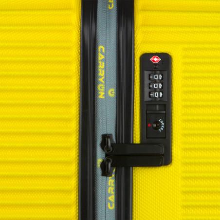 Carryon Connect Handbagage Koffer 4 Wiel 55cm Geel