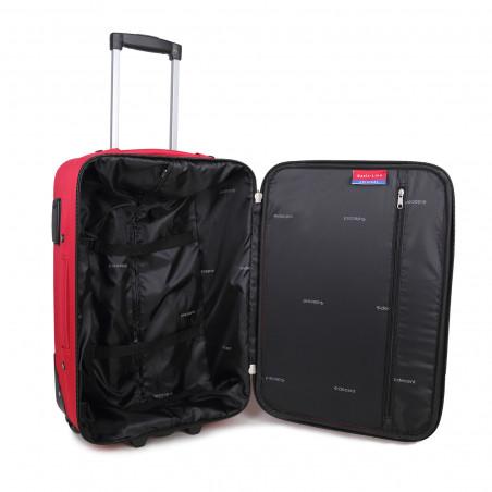 Decent Basic Line Handbagage Koffer 53cm Upright Rood BT