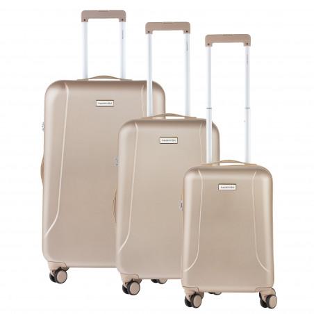 CarryOn Skyhopper Kofferset van 3 Champagne